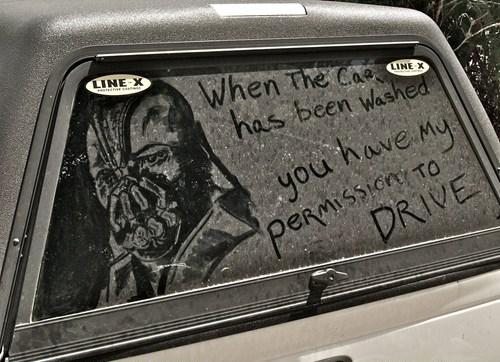 I AM THIS CAR'S RECKONING.